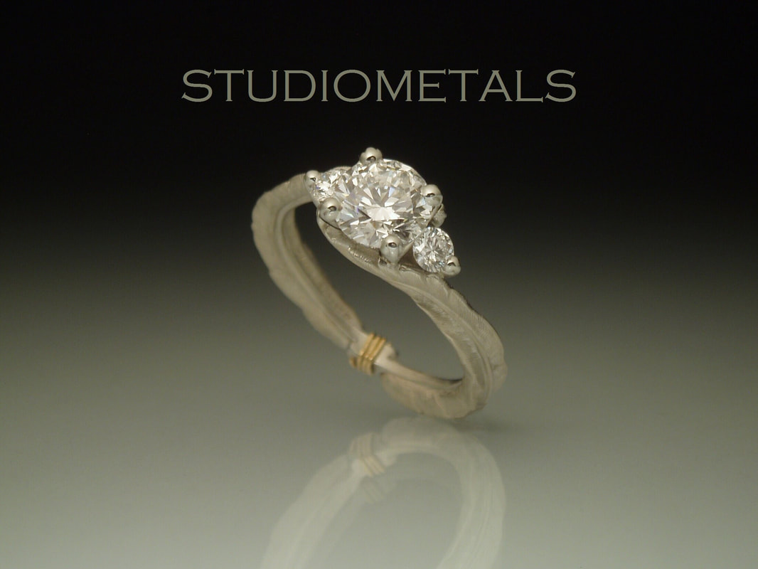 Unique Custom Engagement Rings And Wedding Bands By Studiometals: Intertwining Ring Renaissance Wedding At Websimilar.org